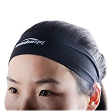 COOLOMG Uni-Sex Solid Moisture Wicking Stretchy Seamless Headband For Sports Yoga Running-Optional Color