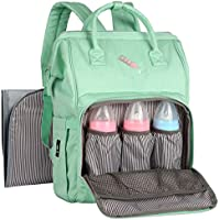 Stanfer Diaper Bag Backpack with Stroller Straps & Changing Pad (Green)