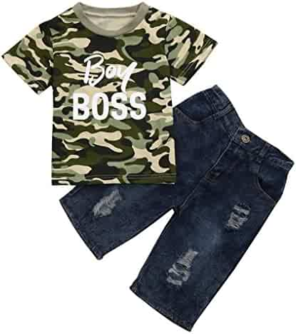 a77f1c0b2 DIGOOD for 1-6 Years Old,Teen Baby Boys Camouflage Letter T-Shirt