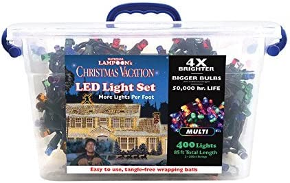National Lampoon s Project Pack LED Concave 8mm Commercial Light Set Multicolored 85 ft. 400 lights
