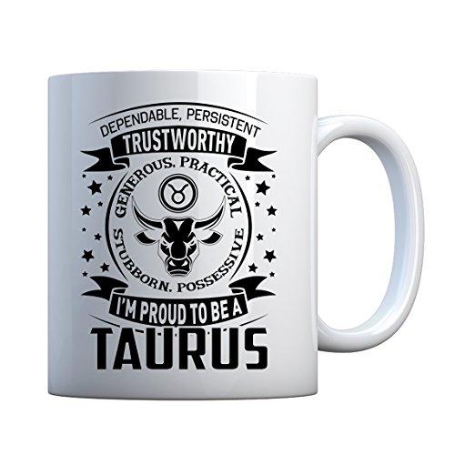 (Mug Taurus Astrology Zodiac Sign Large Pearl White Gift Mug)