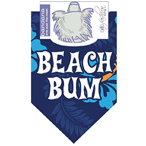 Dog Fashion Living- Beach Bum Blue Dog Bandana by Dog Fashion Living