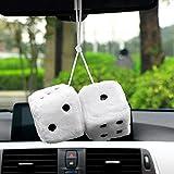 FidgetKute Plush Dice Craps Rear View Mirror Car Pendant Charms Ornaments Hanging Decor