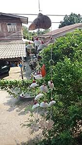Mixed concha de mar colgante lámpara de araña Decor playa 1pc. 15cm para decoración