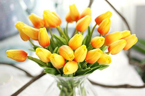 Coobl Artificial silk flower High grade decorative tulip flo