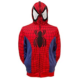 Marvel Spider-Man Cosplay Full Zip Hoodie 51asGYbk22L