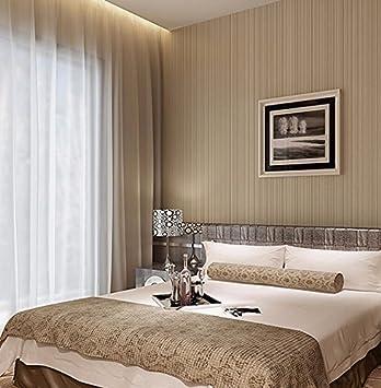 Einfache Moderne Schmale Streifen Farbe Schlafzimmer Warme Farbe Tapete  Wohnzimmer Voller Wallpaper Licht Kaffee Wallpaper