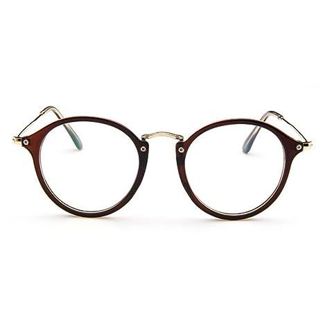 455ee1b2f5 Forepin® Lunettes de Vue Rondes Unisex Cadre Frame Lentille Claire pour  Homme et Femme Vintage: Amazon.fr: High-tech