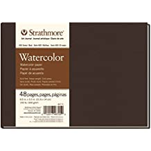 "Strathmore 467-5 400 Series Hardbound Watercolor Art Journal, 8.5""x5.5"" 24 Sheets"