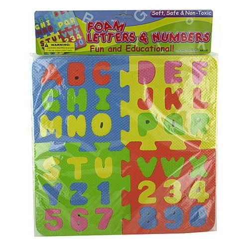 72 Foam letter and number puzzle by FindingKing