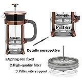 Zzanggu French Press Coffee Maker Tea Pot, Heat