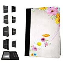 1439 - Cool Fun Trendy cute shabby chic flowers roses daisy flora wallpaper Design Amazon Kindle Fire HDX 7'' 4th Generation 2014-2016 Fashion Trend TPU Leather Flip Case Protective Purse Pouch Book Style Defender Stand Cover