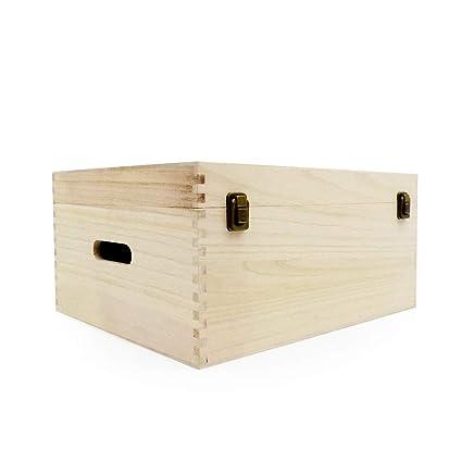 Caja de madera pintada - 360 x 260 x 150 mm-