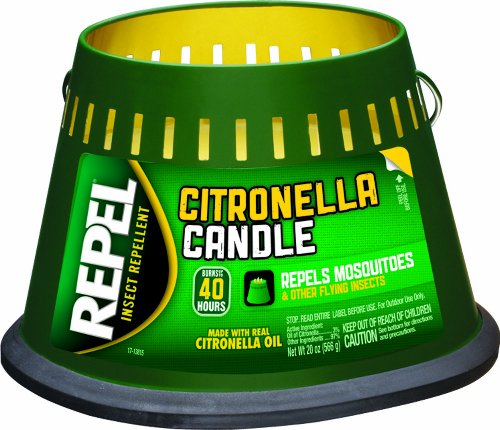 Repel 94116 Citronella Triple Wick Candle, 20-Ounce, Pack of 1 (Bucket Lid With Tin)