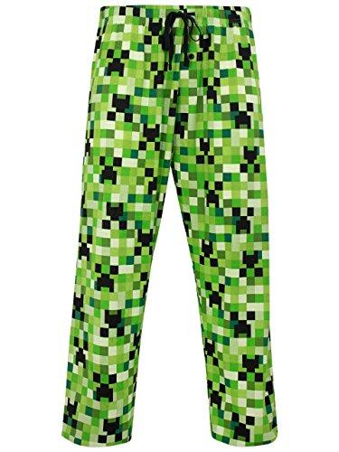 Minecraft Creeper Pants (Minecraft Mens Lounge Pant Size)