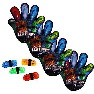 Finger Lights - Led Car Shaped Finger Lights 40 Pc | Multicolor Finger Beams Set | Bright Raving Strap on Finger Lights | Fun Car Shaped Lights | Light up Toys for Fingers - 40 Pcs: Toys & Games