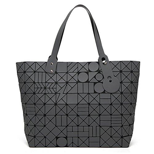 Bolso Geométrico Mate De La Moda Del Bolso Del Rhombus Del Bolso De Las Mujeres,RoseRed Gray