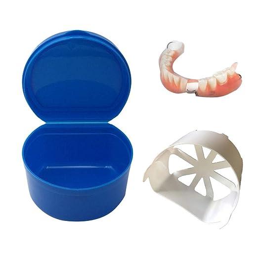 Amazon com: Yezijin Denture Bath Box Case Dental False Teeth