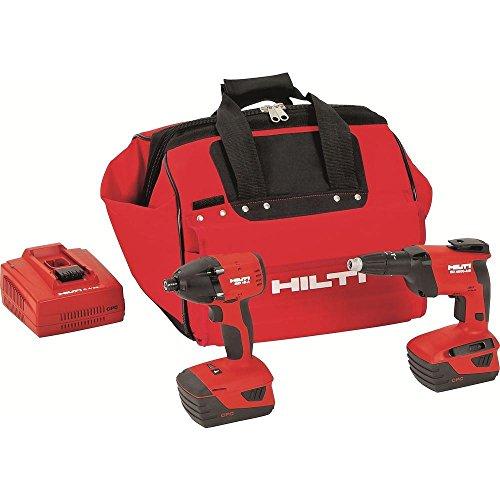 Hilti 3497770 18-Volt Lithium-Ion Cordless Impact Driver/High Speed Drywall Screwdriver Combo Kit (Hilti Tool Kit)