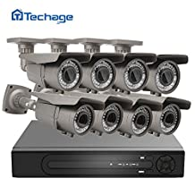 Techage H.265 8CH 48V POE NVR DVR HD 4K CCTV System 4MP 2.8-12mm varifocal lens POE IP Camera IR Outdoor Video Security Surveillance Kit