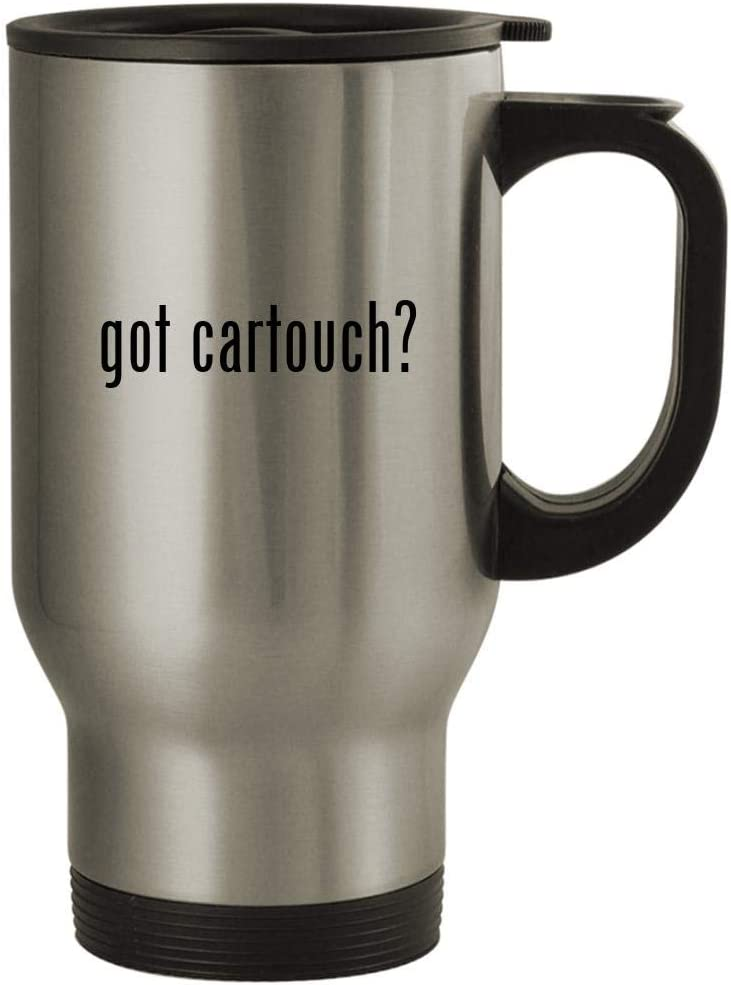 got cartouch? - 14oz Stainless Steel Travel Mug, Silver