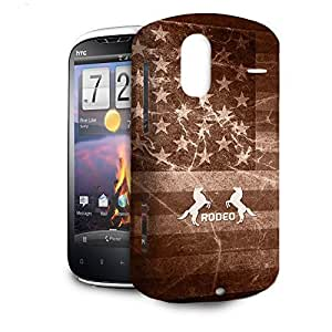 Phone Case For HTC Amaze 4G - Vintage Rodeo Rustic Protective Hardshell