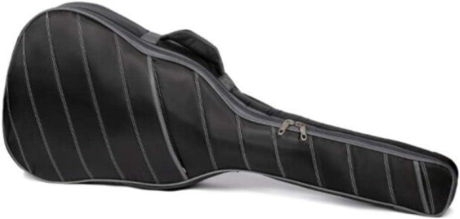 Silk Twill Color : Black-4411016cm 10mm Thick Sponge Shoulder Folk Guitar Case Black Gaoxingbianlidian Guitar Bag