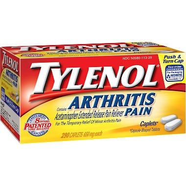 Tylenol 8 HR Arthritis Pain Extended Release Caplets, 650 Mg, 290 Count AS -