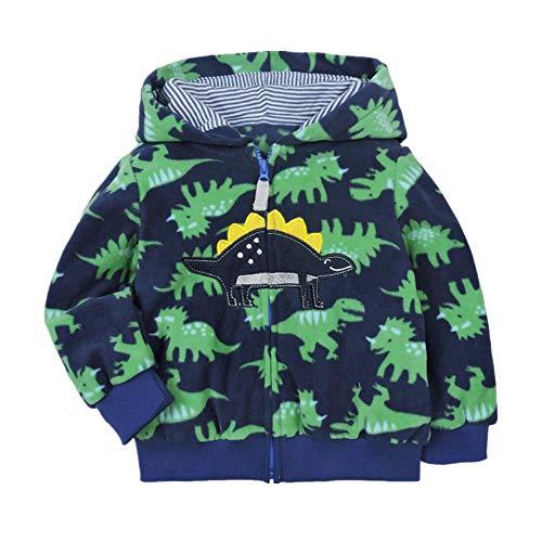 Popshion Toddler Boys Hooded Dinosaur Ho...