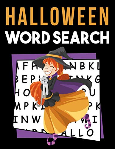 Halloween Word Search: My First Word Search Book - Word Search for Kids Ages 6-8 Years Fall Activity Books for Kids