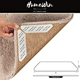 HomeWin Rug Gripper, Premium Rug Grippers - 8 pc. Anti Curling Rug Gripper. Reusable Anti-Slip Carpet Grip for Rug Corners and Edges. Stop Rugs and Carpets from Sliding and Curling. Kitchen/Bathroom