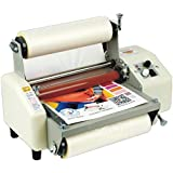 "8230 Film Laminator Four Rollers Hot and Cold Roll Laminating Machine for 8.66""(220mm) A4+ (110V)"