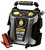 STANLEY J5CP Jump Starter Power Station: 1000 Peak/500 Instant Amps, 200W Inverter, 120 PSI Air Compressor