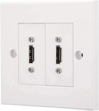 2 Puerto HDMI placa frontal Modular/enchufe de pared: Amazon.es: Electrónica