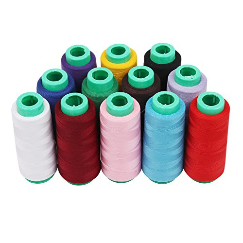 Overlocking thread/Polyester thread - 12 Pcs/18,000 Yards Se