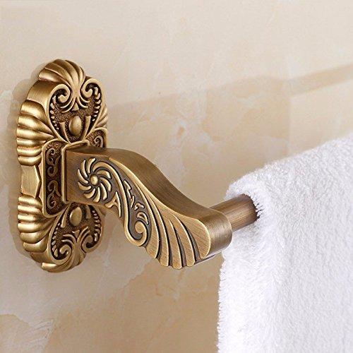 Yomiokla Bathroom Towel rack Tower hanger Towel Ring European single retro-copper wall mounted 63cm by Yomiokla