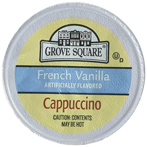 Grove Square Cappuccino, French Vanilla, 50 Single Serve Cups (Packaging May ()