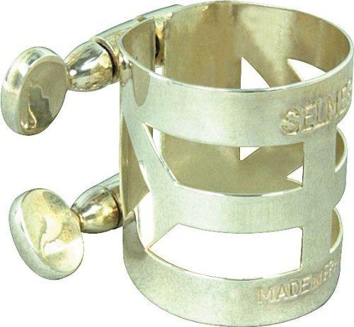 Selmer m404lig–Saxofón tenor ligadura–bañado en plata KMC Music Inc