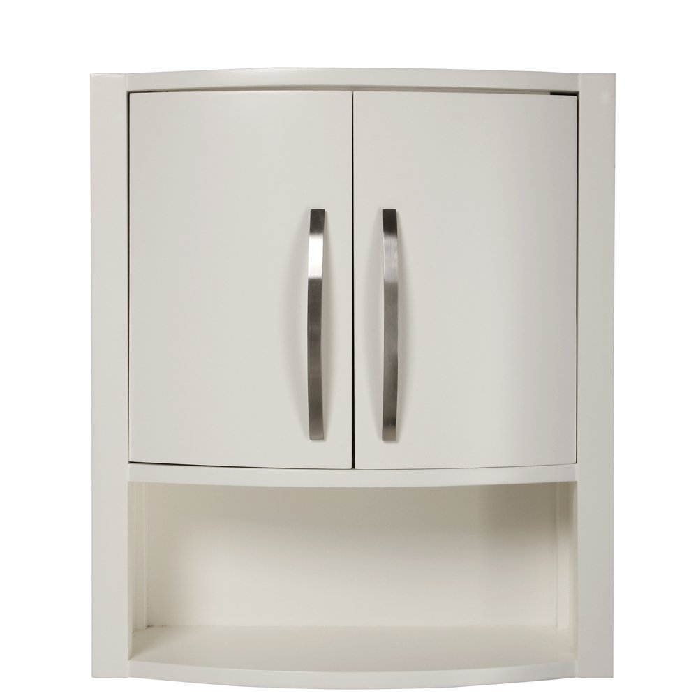 DECOLAV 5255-WHT Lola 22-Inch Wall Cabinet, White - Mounted Bathroom ...