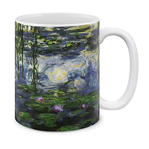 MUGBREW Classic Art Claude Monet Water Lilies Ceramic Coffee Gift Mug Tea Cup, 11 OZ