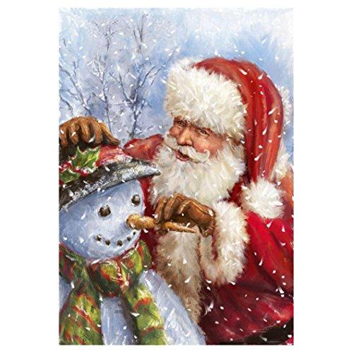 (Vacally Diamond Painting,5D Modern Wall Art Decor Rhinestone Painting Cross Stitch Kit Santa Claus Snow House Home Decor (Multicolor 3))