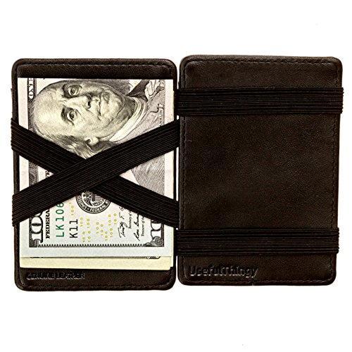 (Magic Wallet - Magical Flip, for Men Women Kids - Genuine Leather Black)