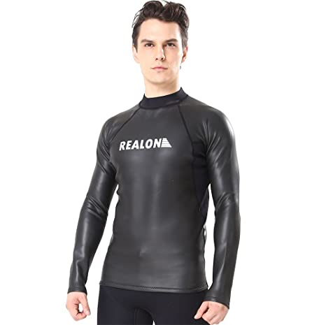5ebabd7e8f Flexel Wetsuit Top-2mm Premium Neoprene Swimming Snorkeling Scuba Diving  Fishing XSPAN Zipper Surfing Suit