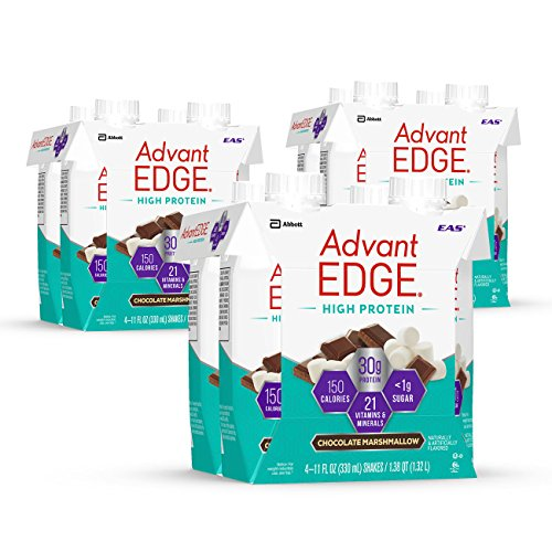 High Protein Drinks (EAS AdvantEDGE High Protein Ready-to-Drink Protein Shakes, 30 grams of Protein, Chocolate Marshmallow, 12 Count)
