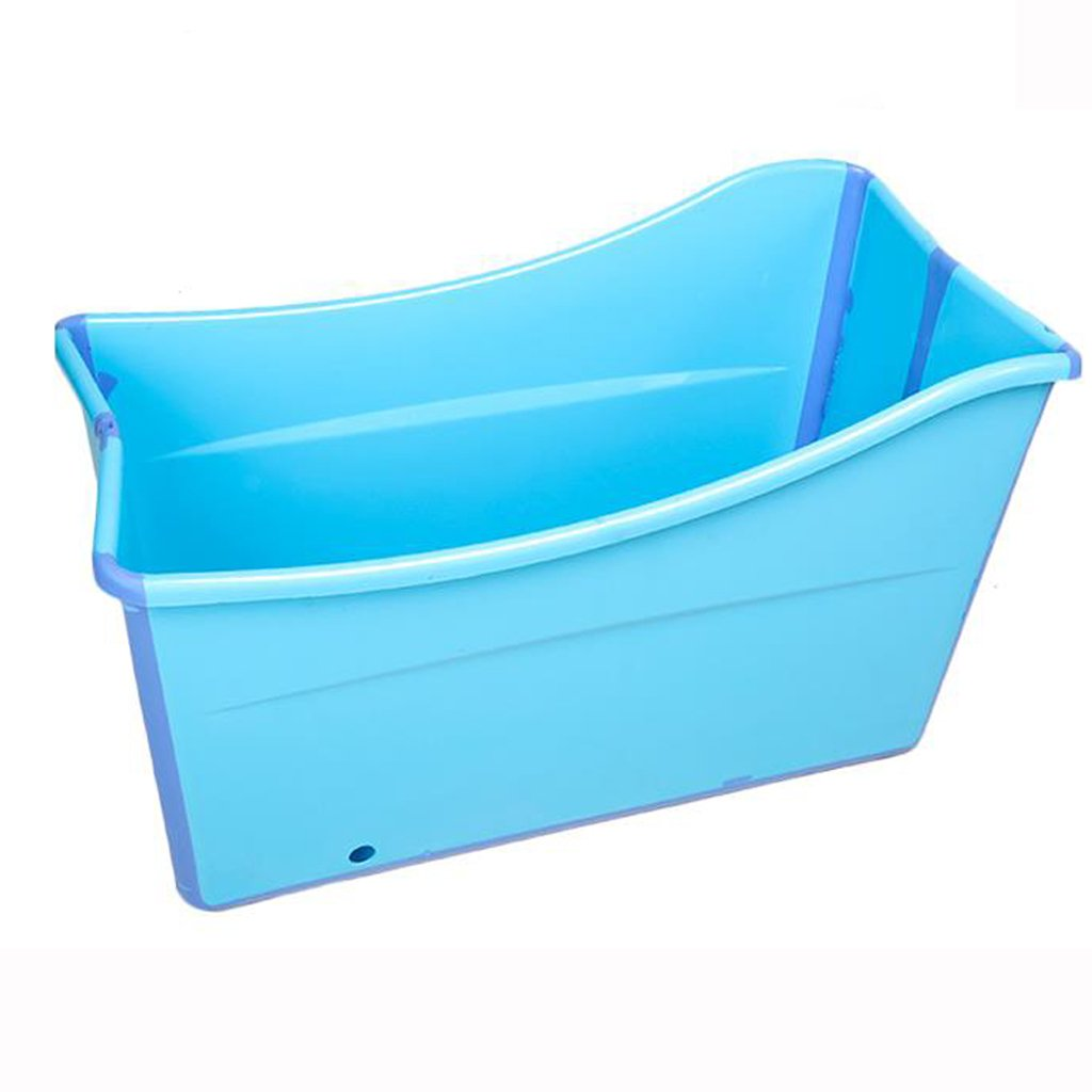 Adult Bath Folding Portable tub, Children Play with Summer Toddler Padded Bathtub (Blue + Pink) HUACNAG (Color : Blue)