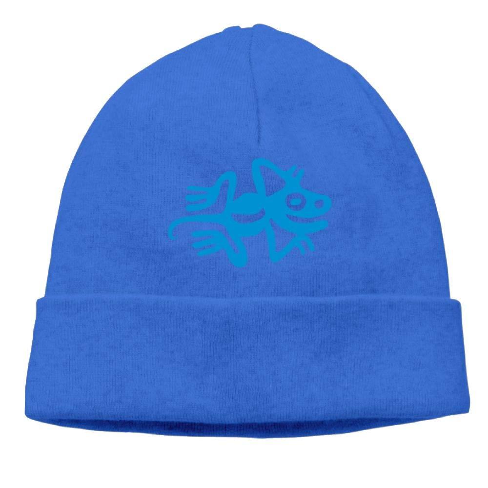 Oopp Jfhg Beanies Knit Hat Ski Cap Blue Funny Gecko Unisex