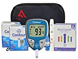 Diabetes Testing Kit (Bayer Contour Meter + 100 Contour Test Strips + 100 Active1st 30g Lancets + Lancing Device + Control Solution)