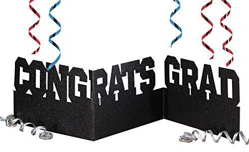Creative Converting Congrats Grad Accordion Glitter (Centerpieces For Graduation Parties)
