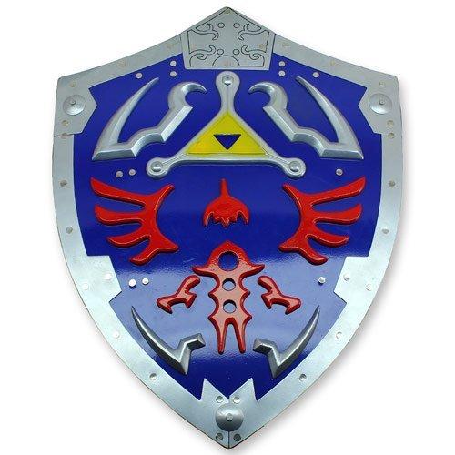(Zelda Triforce Metal Shield Link Hylian Video Game Awakening Time of Legend)