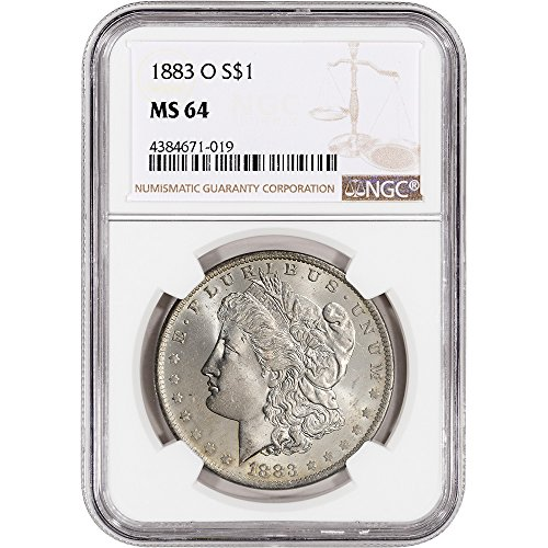 1883 O US Morgan Silver Dollar NGC Large Label $1 MS64 NGC